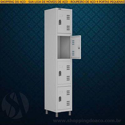 Roupeiro de Aço para Vestiário 4 Portas Pequenas W3