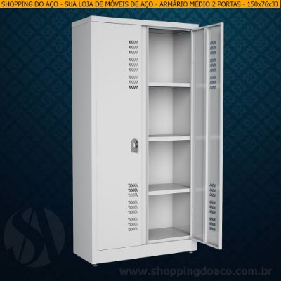 Armário de aço para escritório 150x76x33 - W3