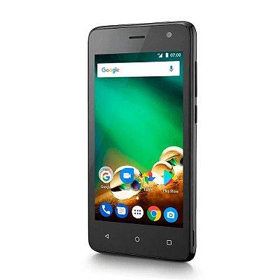 Smartphone MS45 4G 1GB Multilaser NB720 Preto Tela 4.5 pol.