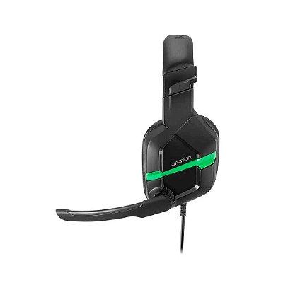Fone de Ouvido Headset Gamer Askari P2 Xbox Verde Warrior -