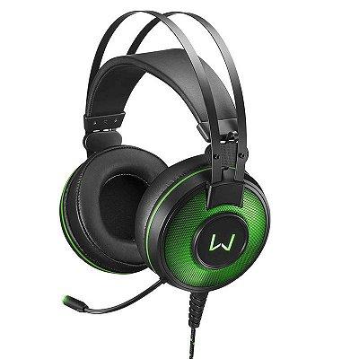 Fone Headset Gamer 7.1 USB com Led Verde Warrior Raiko - PH2