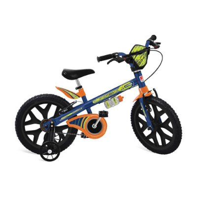 """Bicicleta 16"""" Superbike Azul - Bandeirante 3021"""
