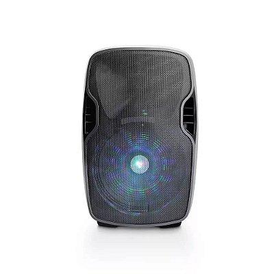 Caixa Amplificadora Bluetooth 500W FM + Microfone sem Fio Mu