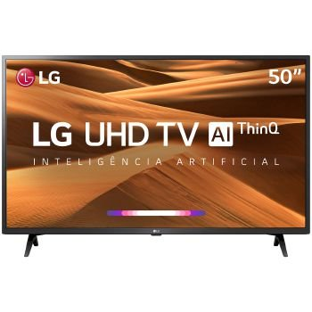 TV 50P LG LED SMART 4K USB HDMI COMANDO DE VOZ - 50UM7360PSA
