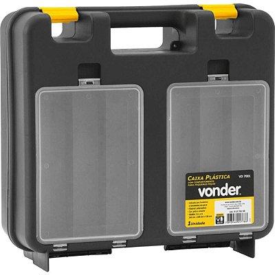 Maleta Plástica Para Furadeira C/ Organizador Vd-7001 Vonde