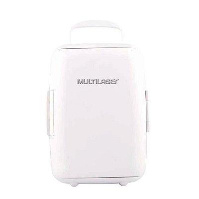 Mini Geladeira 6L Branca 12V 127V Capacidade 4 Garrafas de 6