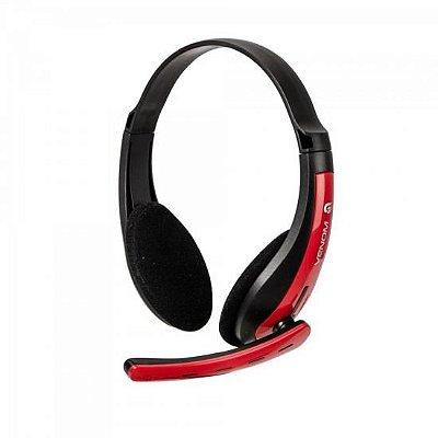 Headset Gamer PC/XBOX 360 SPIDER VENOM SHS-701 Preto/Vermelh