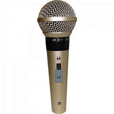 Microfone Profissional Com Fio Cardióide SM58 P4 Champanhe
