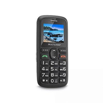 "Celular Vita Dual Chip Tela 1,8"" USB e Bluetooth Preto Multi"