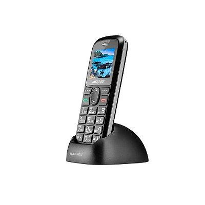 Celular Vita Dual Chip USB e Bluetooth Tela 1,8 Pol. + Base