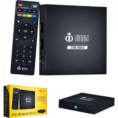 Conversor Smart TV Box TVB-906X Preto INFOKIT