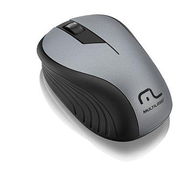 Mouse sem Fio 2.4GHz 1200dpi Preto/Grafite Multilaser - MO21