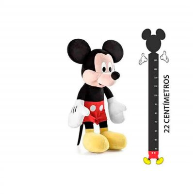 Pelúcia Mickey com Som Tam. 22cm Material Fibra/ Poliéster
