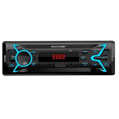Som Automotivo Pop 1 Din MP3 4x25W RMS Rádio FM + Entrada C