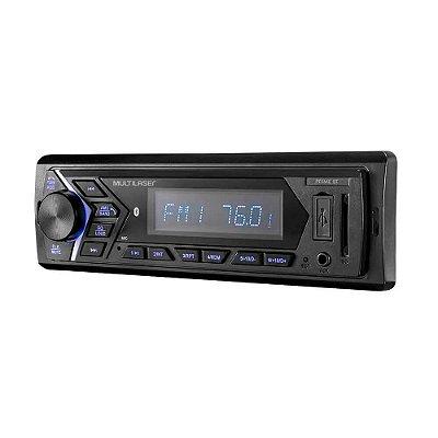 Som Automotivo Prime 1 Din Bluetooth MP3 LCD 4x45WRMS Rádio