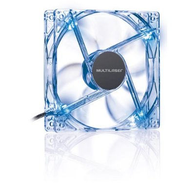 Cooler Fan Led Azul Multilaser 12x12 Cm - Ga135