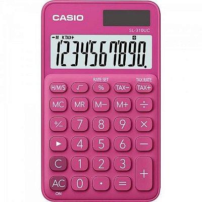Calculadora de Bolso 10 Dígitos SL-310UC-RD Rosa CASIO