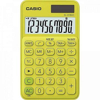 Calculadora de Bolso 10 Dígitos SL310UC Amarela CASIO