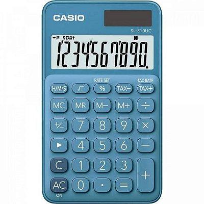 Calculadora de Bolso 10 Dígitos SL310UC Azul CASIO