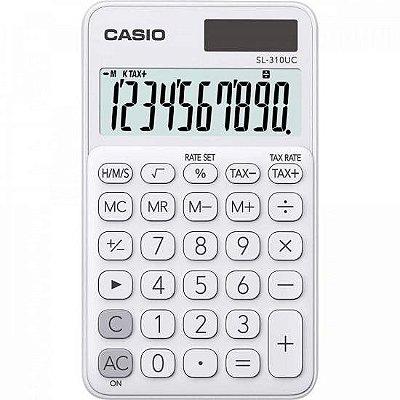Calculadora de Bolso 10 Dígitos SL310UC Branca CASIO