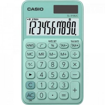 Calculadora de Bolso 10 Dígitos SL310UC Verde CASIO