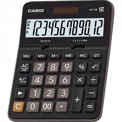 Calculadora de Mesa 12 Dígitos DX-12B Preta CASIO