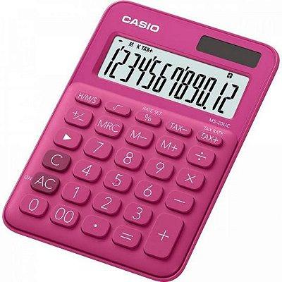 Calculadora de Mesa 12 Dígitos MS20UC Rosa CASIO