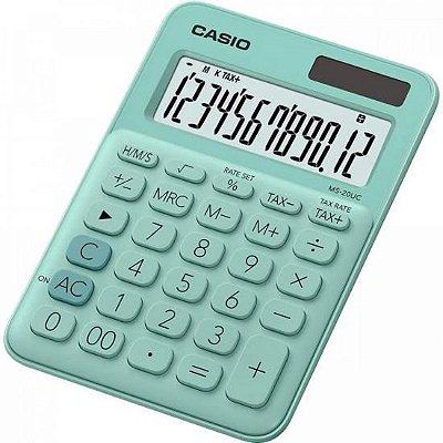 Calculadora de Mesa 12 Dígitos MS20UC Verde CASIO