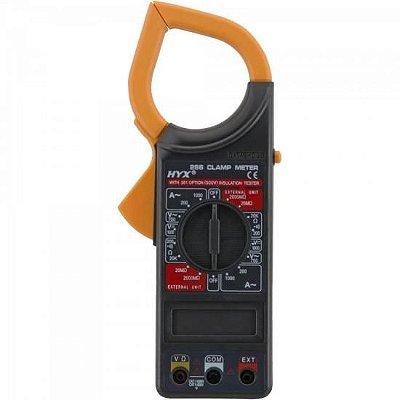 Alicate Amperímetro 6 funções 266 Preto HYX