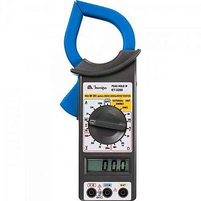 Alicate Amperímetro Digital ET-3200 Azul/Preto MINIPA