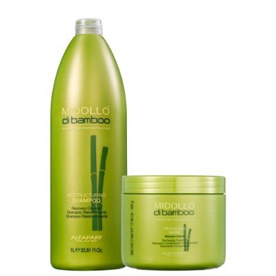 Kit Alfaparf Midollo Di Bamboo Shampoo e Mascara Reconstruç