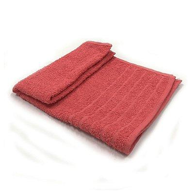 Toalha De Rosto Jacquard Luxo - Cor Vermelha 49x68 cm