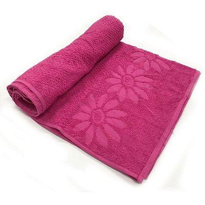 Toalha De Banho Luxo ? Cor Rosa 68cm X 1,36m
