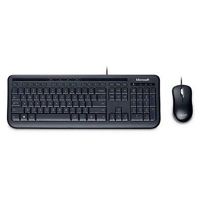 Microsoft Teclado E Mouse Com Fio Desktop 600 Usb Preto Bulk