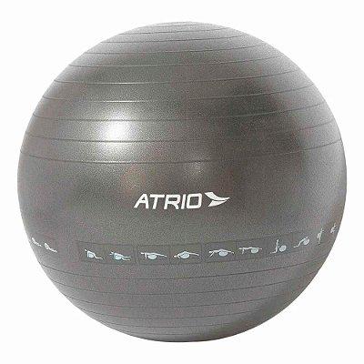 Bola de Ginástica Premium 75CM Diagrama de Exercício Mater
