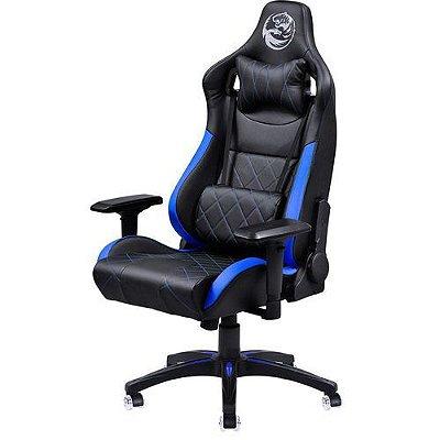 Cadeira Gamer Mad Racer V10 Preto Com Detalhes Em Azul E Rodas Em Gel - MADV10AZGL