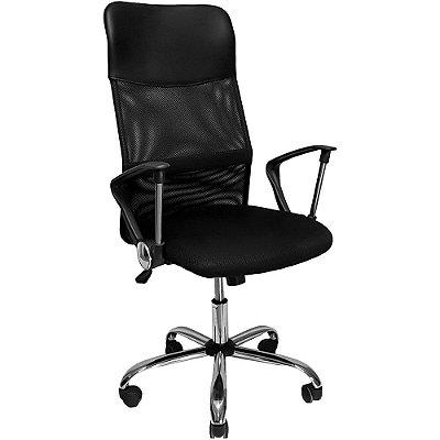 Cadeira Presidente Mesh Giratória Preta Mymax