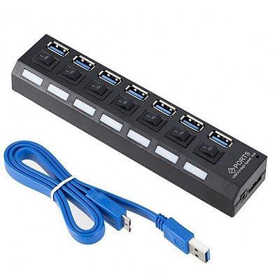 Hub USB 7 Portas 3.0 Knup Kp-t116