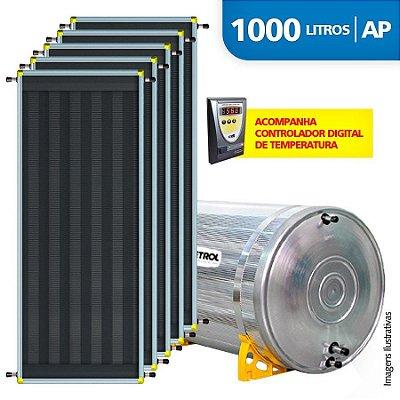 Aquecedor Solar Soletrol 1000 Litros Digital com 5 Coletores Solares de 2.0m² - Alta Pressão