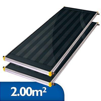 Coletor Solar Soletrol 2,00m² - Embalagem e Preço para 2 coletores