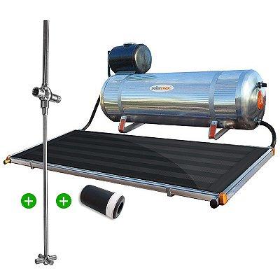 Aquecedor Solar Solarmax Eco 200 com Coletor Solar de 1,6m² + Registro Misturador Solar para Chuveiro + VAC Válvula Atenuante de Congelamento