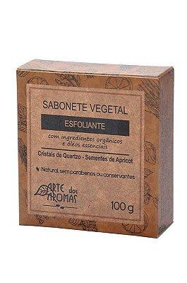 Sabonete Facial e Corporal Esfoliante com Barra Cristais de Quartzo Arte Dos Aromas 100g