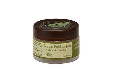 Argila Verde e Tea Tree Máscara Facial de Limpeza 90g  Arte dos Aromas