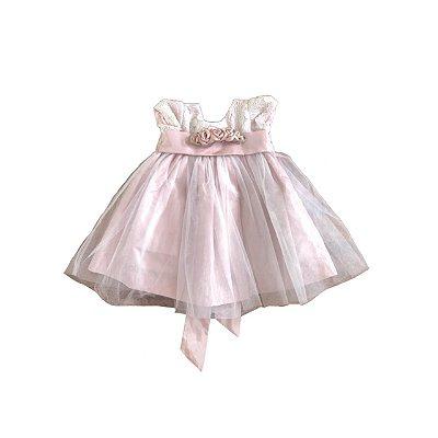 Vestido Festa KOPELA Infantil Rosa Claro