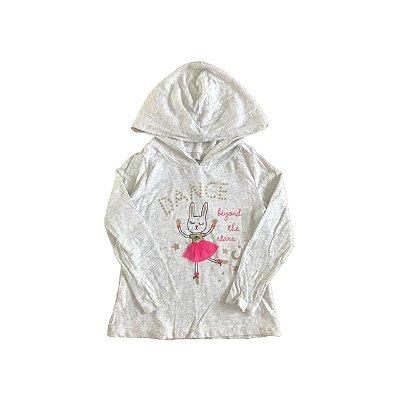 Camiseta Manga Longa CARTER´S Infantil Mescla com Capuz Coelha