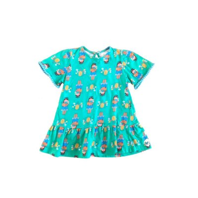 Vestido FABULA Infantil Verde Abacaxi