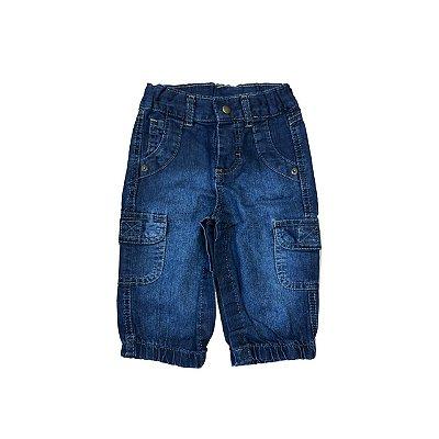 Calça Jeans TEDDY BOOM Infantil com Elastico no Punho