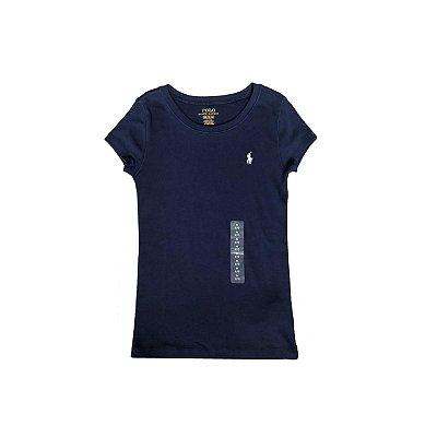 Camiseta Ralph Lauren Azul Marinho com Etiqueta