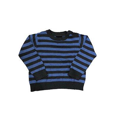 Trico YCC 214 Infantil Listras Cinza e Azul