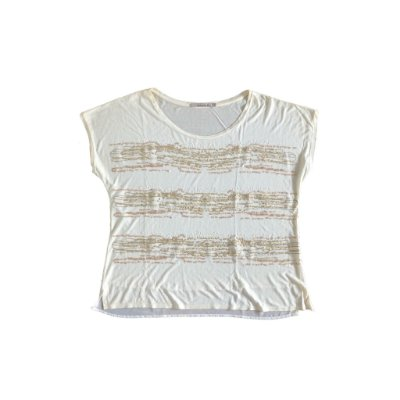 Blusa Shoulder Off White com Lantejoulas